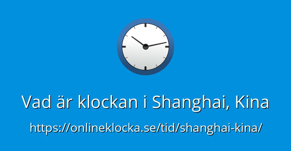 klockan i kina