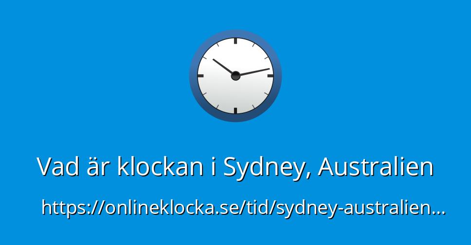 vad är klockan i australien